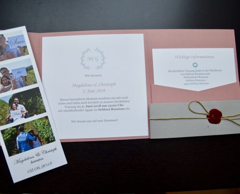 Hochzeitseinladung Make it happen Events