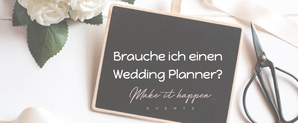 brauche ich einen wedding planner