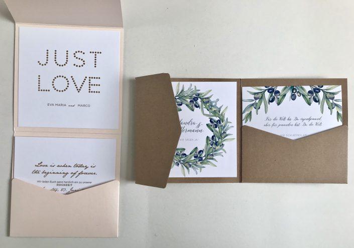 Hochzeitseinladung Pocketfolder