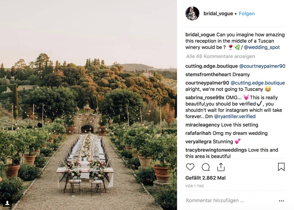 Besten Instagram Account als Inspiration für die Hochzeit
