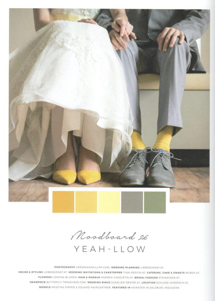 Farbpaletten für die Hochzeit