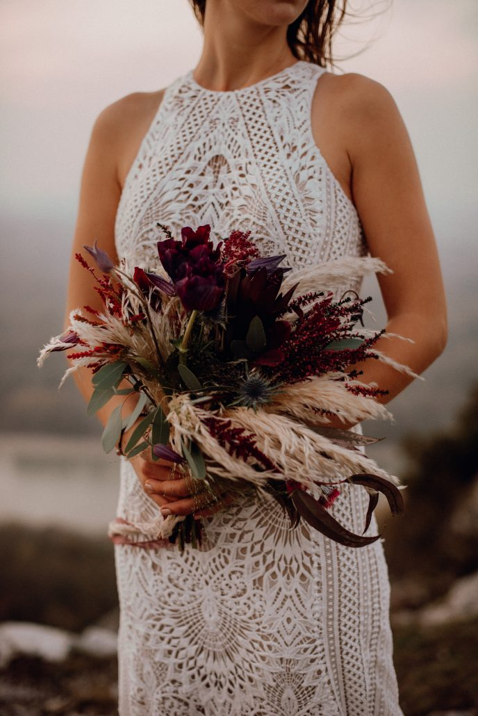 pampas grass bridal bouquet