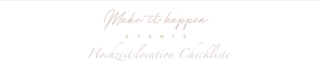 Hochzeitslocation Checkliste