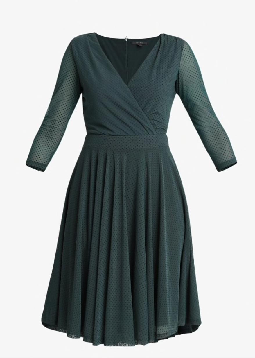 dunkelgrünes Kleid - make it happen events