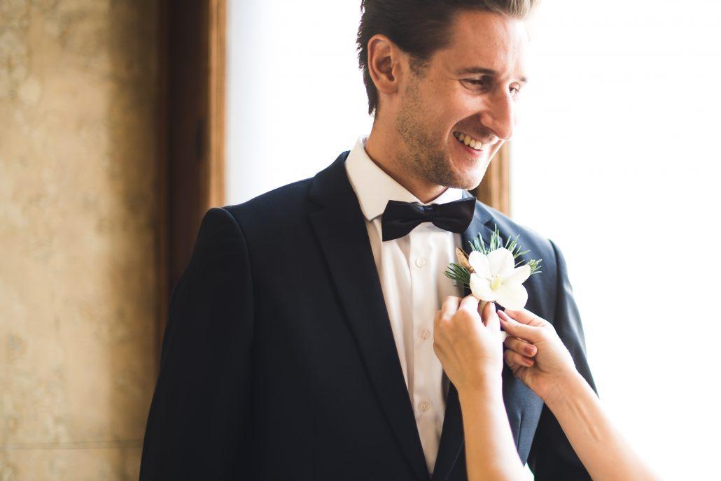 Bräutigam Hochzeitstag