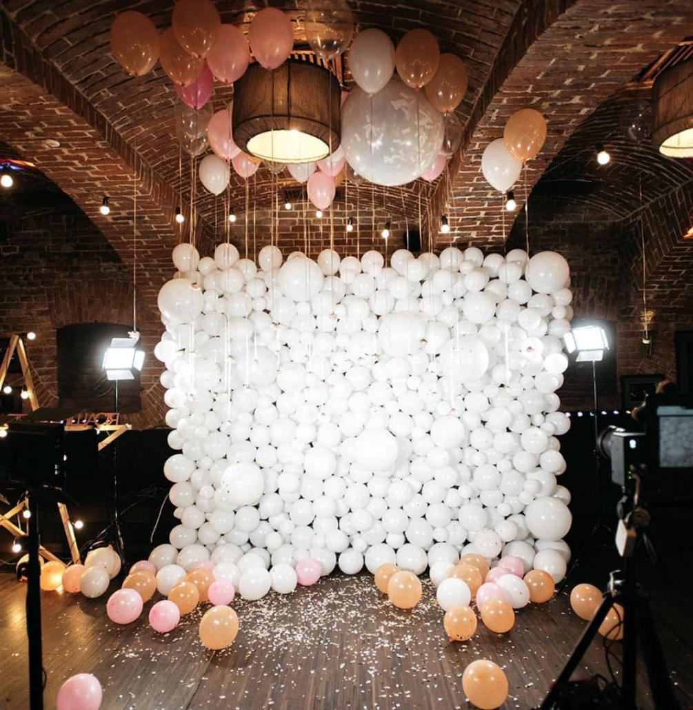 Luftballone bei der Hochzeit