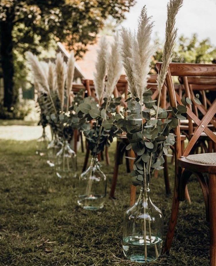 Pampasgras Hochzeit