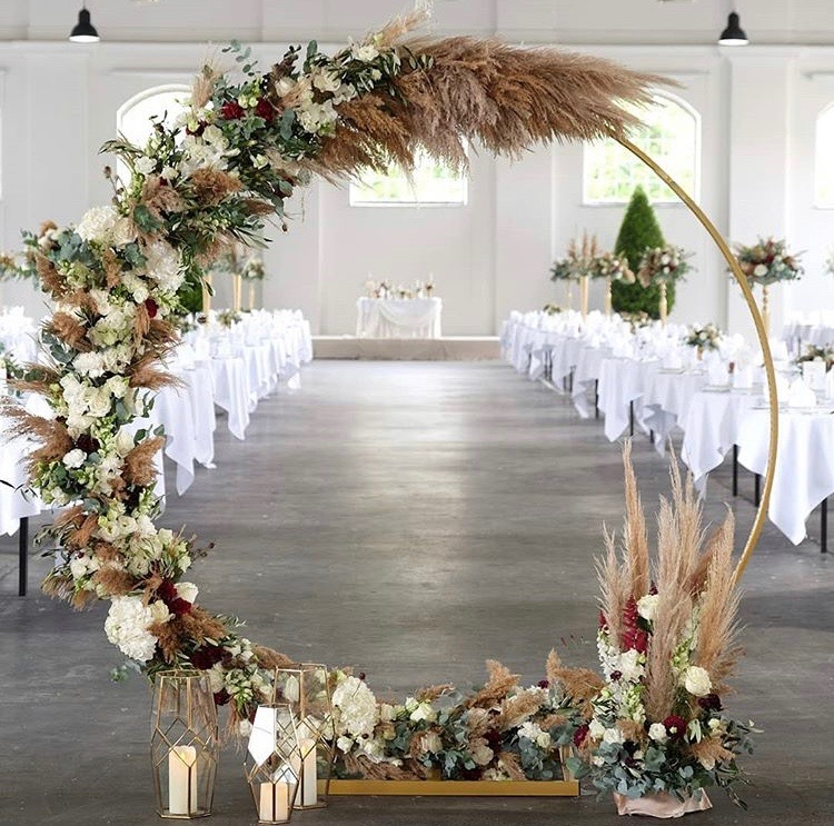 wedding arch pampas grass