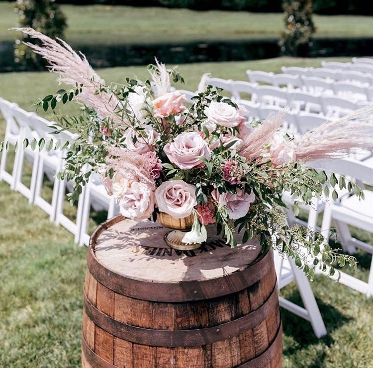 Pink Pampas grass wedding