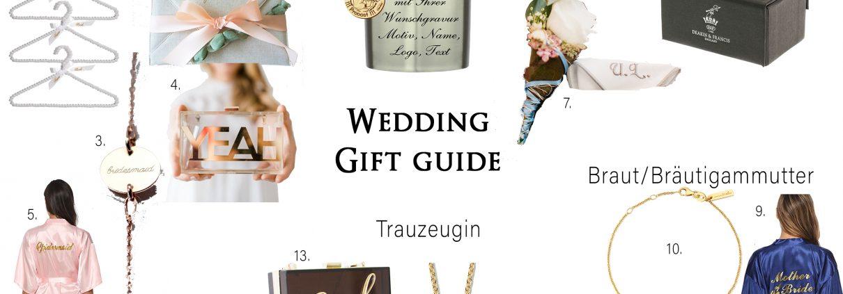 Geschenkideen für die Hochzeit