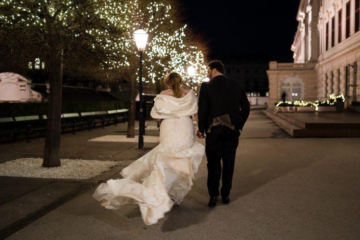 Hochzeit im Winter in Wien