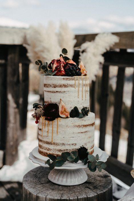 Winterhochzeit Torte