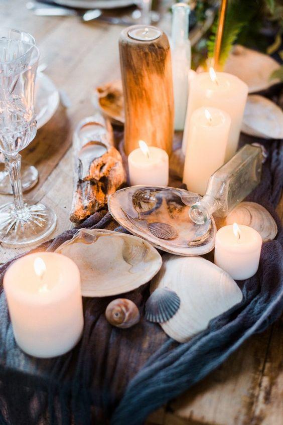 Dekoration ohne Blumen Meer Hochzeit