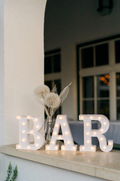 Bar Schild Hochzeit