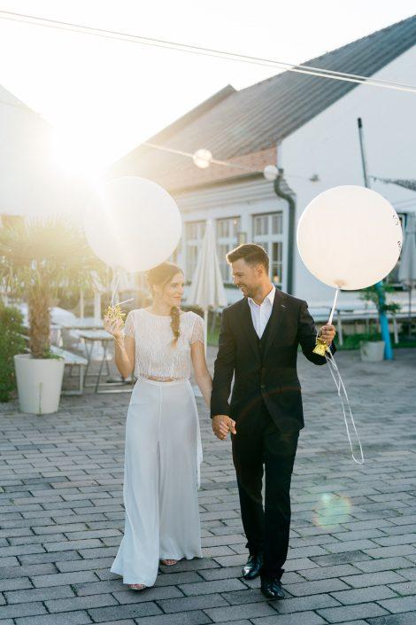 Brautpaar Strandhaus Mörbsich