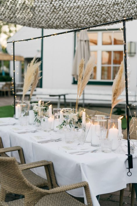 Hochzeitsdekoration Strandhaus Mörbisch