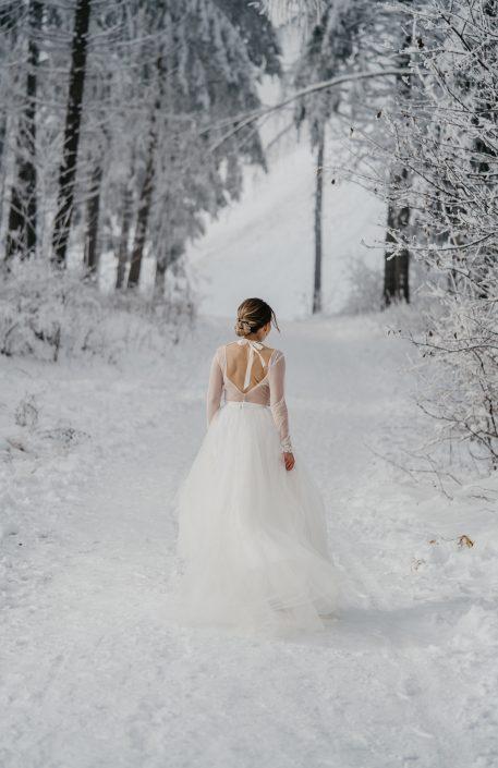 Brautkleid Winterhochzeit