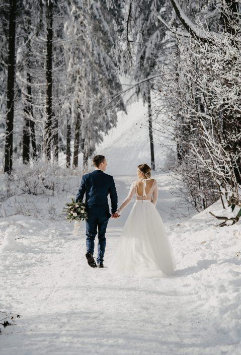 Winterhochzeit Fotos Österreich