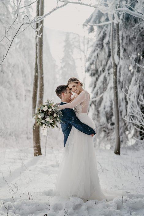 Brautpaarfotos Winterhochzeit