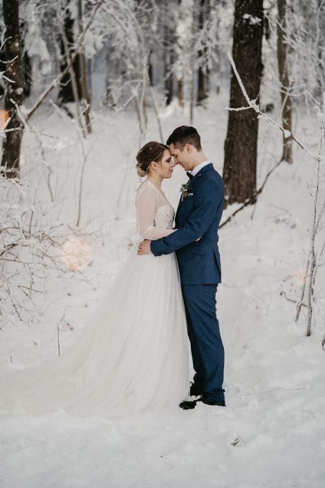 Romantische Winterhochzeit