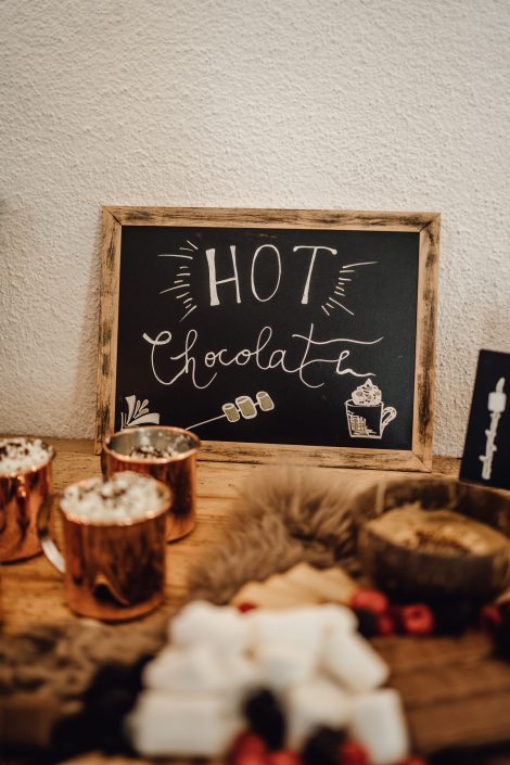 Hot Chocolate bar Hochzeit